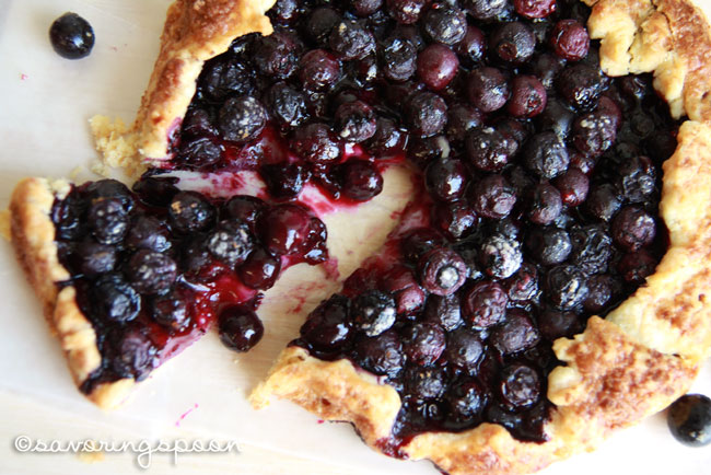 Blueberry Galette Slice-Top view