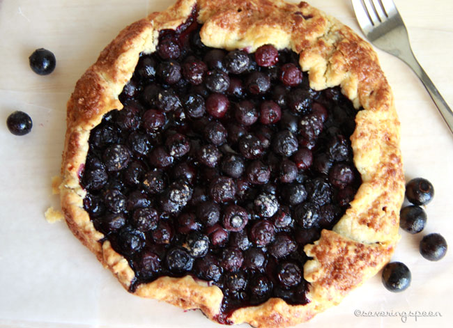 Blueberry Galette -- Whole