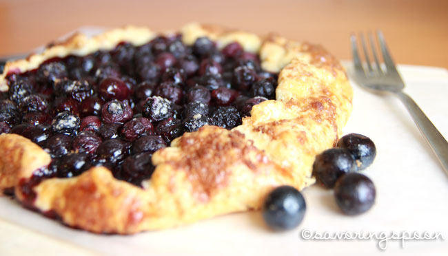 Blueberry Galette -- whole, side