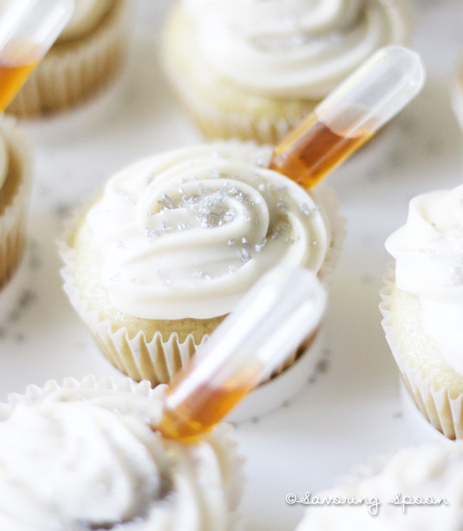 pipette cupcakes - one cupcake
