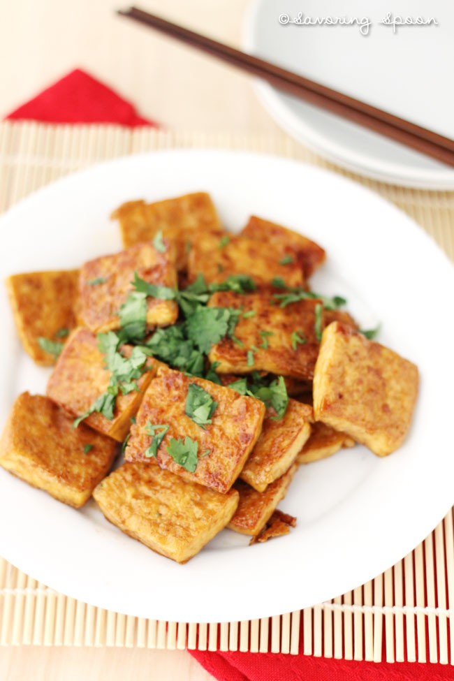 Panfried Tofu With Romano-Bean And Herb Salad Recipes — Dishmaps