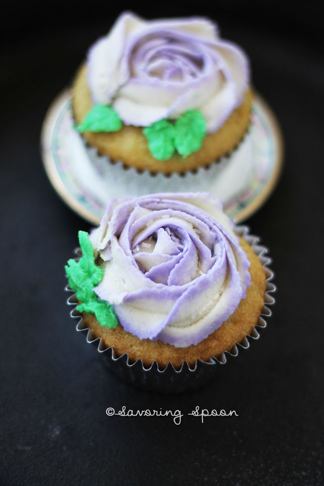 Vegan rose cupcake