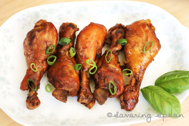 sticky soy sauce chicken ~ www.savoringspoon.com