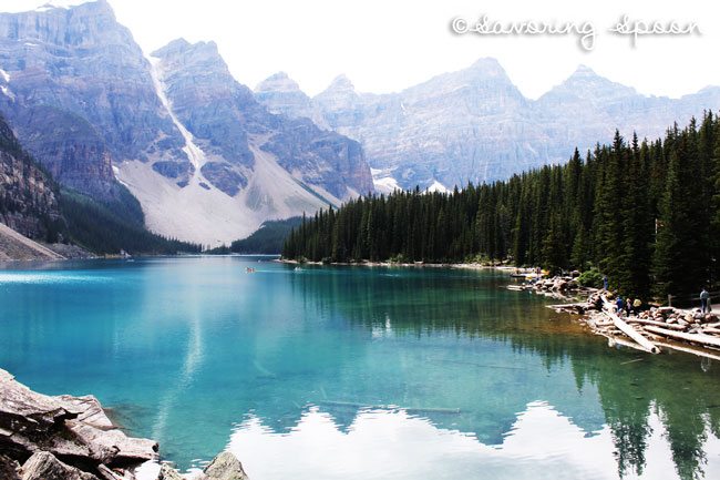 Lake Moraine at Banff National Parl | www.savoringspoon.com