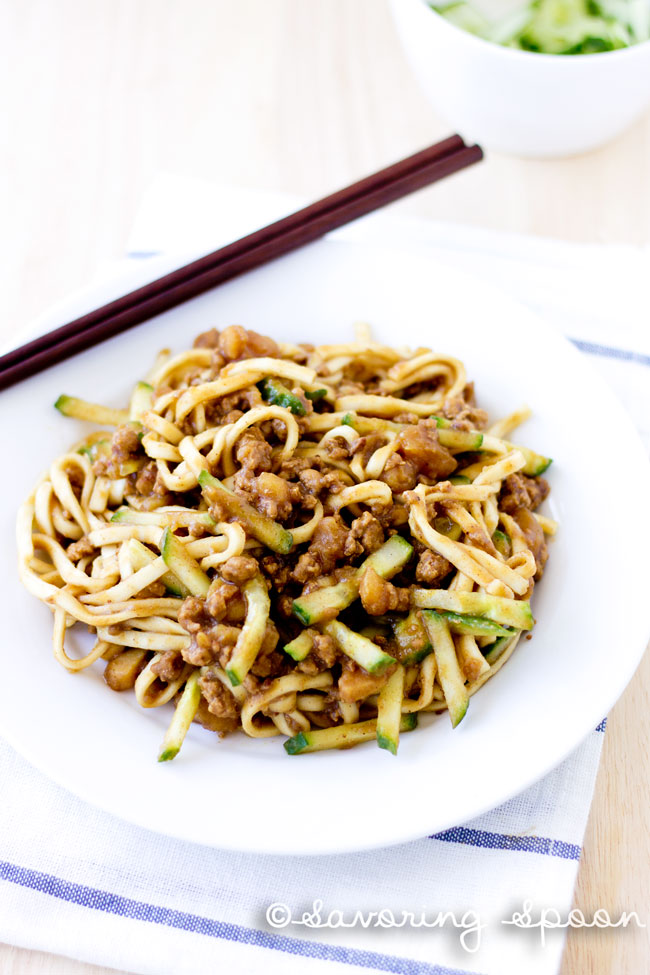 Ground Beef With Beijing Sauce Over Noodles Recipes — Dishmaps