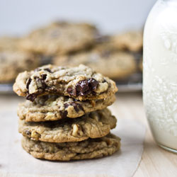 nutty sea salt chocolate chunk cookie