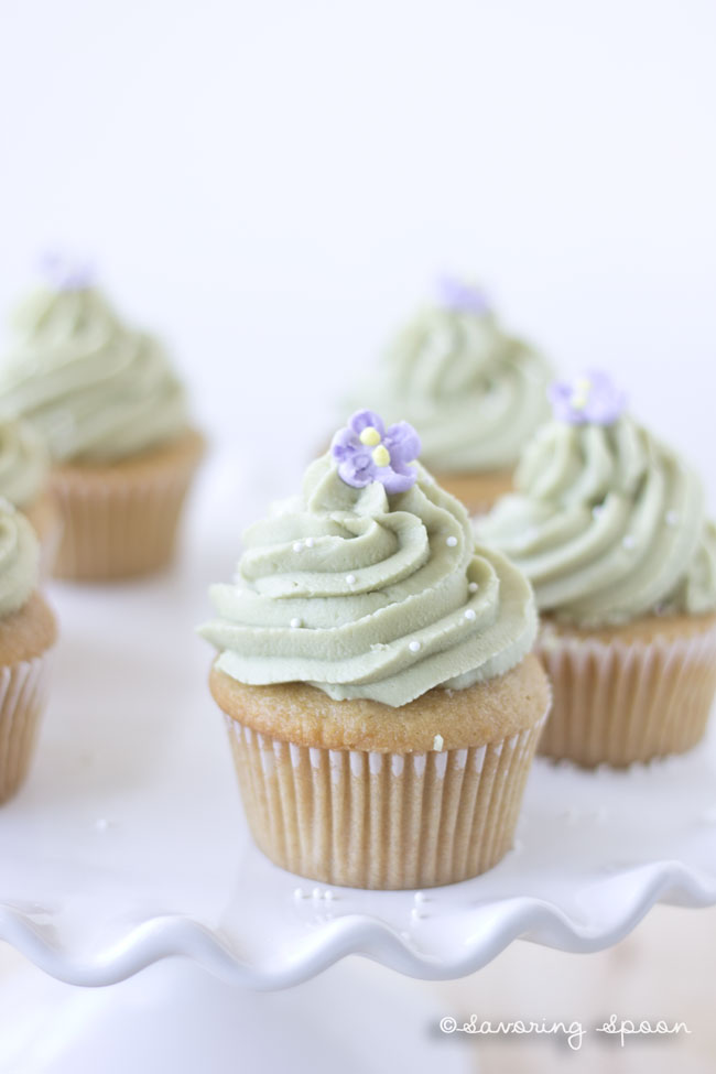 simple vegan green tea cupcakes